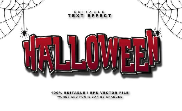 Halloween text effect free vector