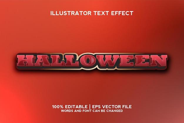 Halloween text effect template