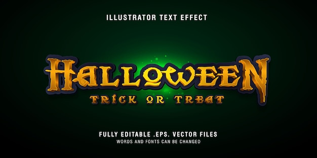 Эффект стиля текста хэллоуина, редактируемый