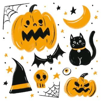 Хэллоуин тема плоский значок