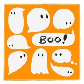 Halloween theme speech bubble