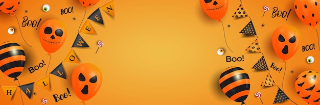 ハロウィーンをテーマにしたバナーデザイン