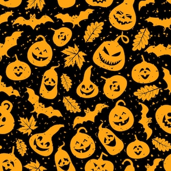 Halloween themed seamless pattern