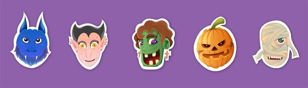 Набор стикеров на тему хэллоуина
