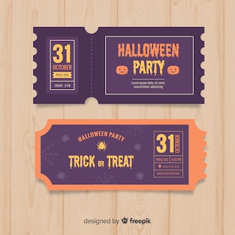 Halloween ticket template concept