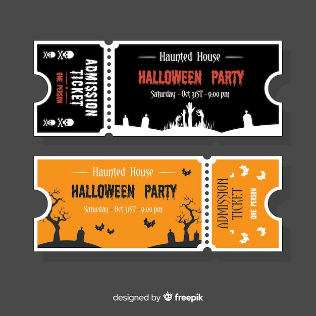 Free Halloween Ticket Template Concept Svg Dxf Eps Png Cut