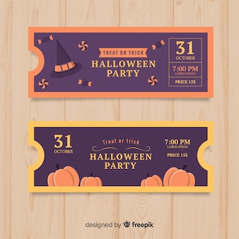 Halloween ticket template design