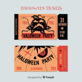 Halloween ticket template