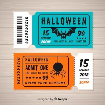 Halloween tickets concept