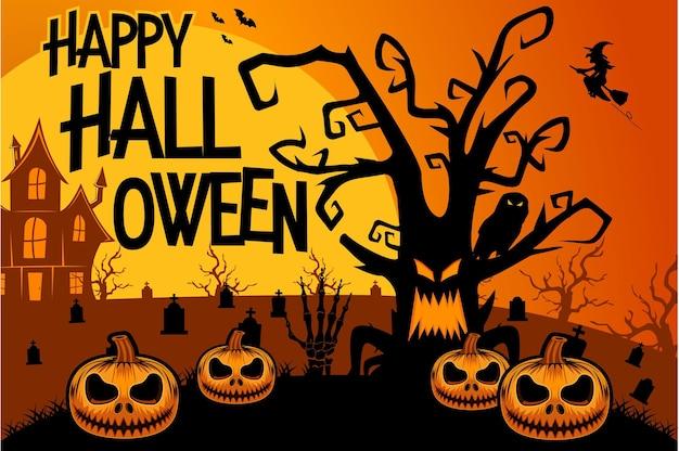 Halloween tree happy halloween