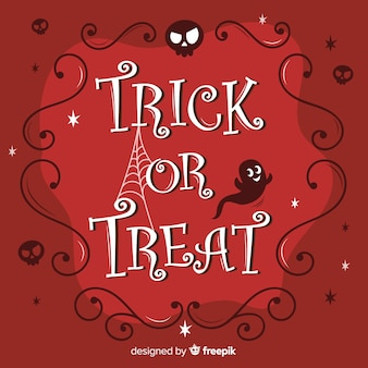 Halloween trick or treat calligraphy