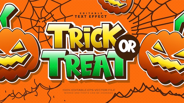 Halloween trick or treat text effect