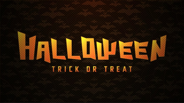Halloween typography with bats on abstract background