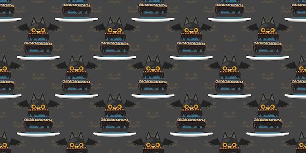 할로윈 뱀파이어 박쥐 케이크 완벽 한 패턴입니다.