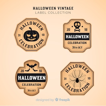 Halloween vintage badge collection