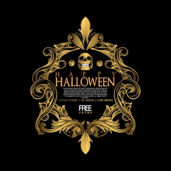 Halloween vintage luxury