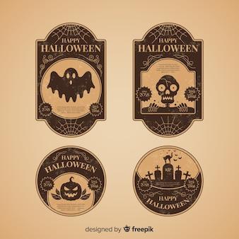 Halloween vintageバッジコレクション