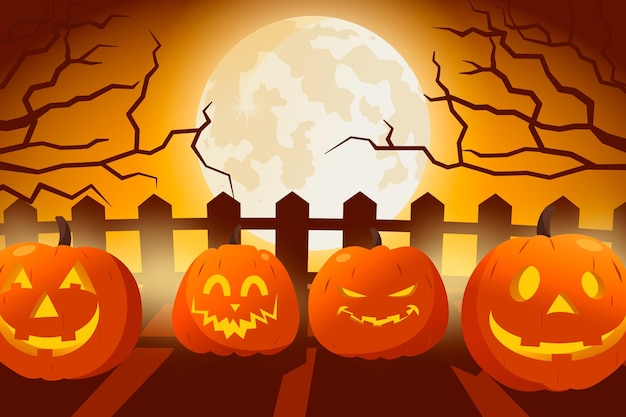 Halloween wallpaper design