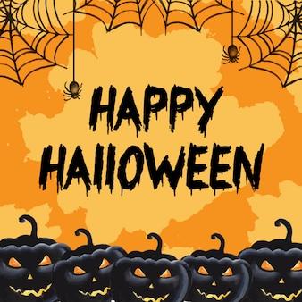 Halloween watercolor background
