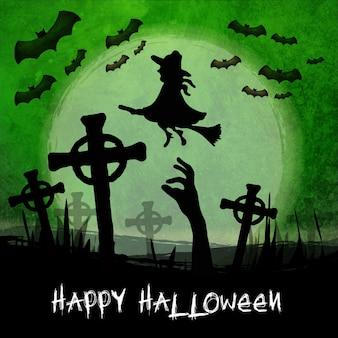 Хэллоуин акварель фон