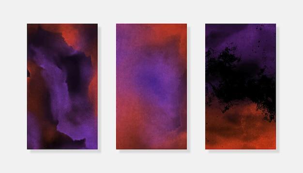 ハロウィーン水彩instagramストーリーの背景