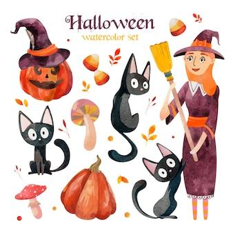 Halloween watercolor set