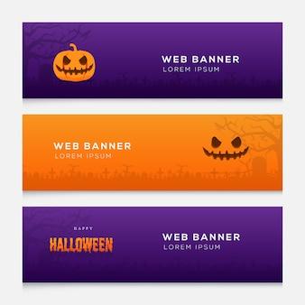 Halloween web bannerテンプレートデザイン