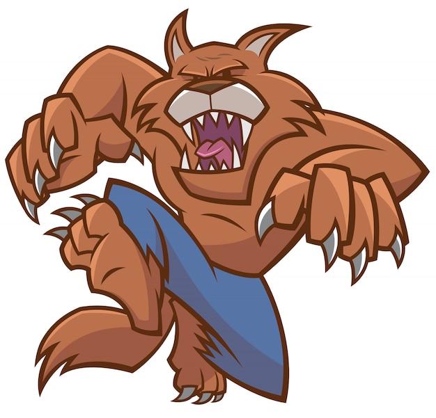 Halloween werewolf cartoon