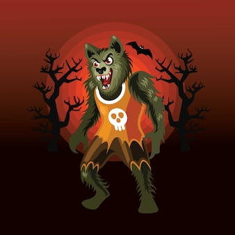 Halloween werewolf character