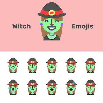 Halloween witch emojis