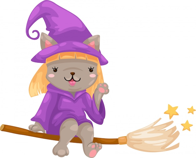 Halloween witch vector