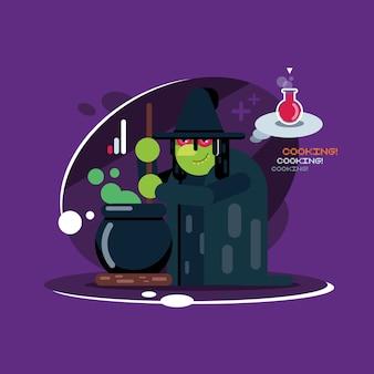 Хэллоуин ведьма