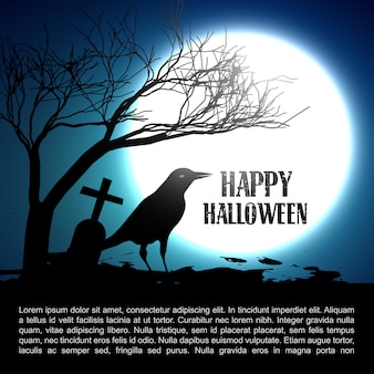 Halloween  with space for your text