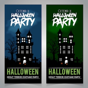 Hallowen party borchure design vector
