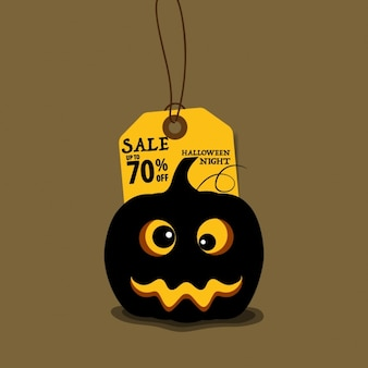 Hallowen sale background with pumpkin
