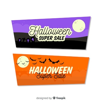 Hallween orange and purple super sale banners
