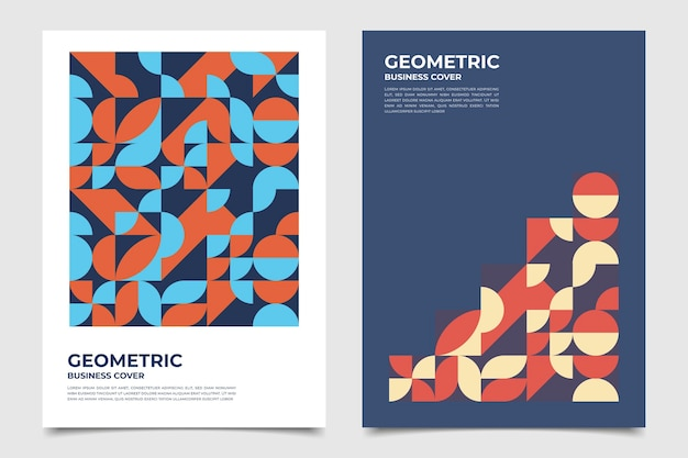 Halves of circles geometric business cover collection
