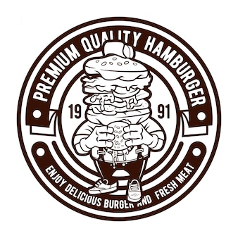 Hamburger badge logo