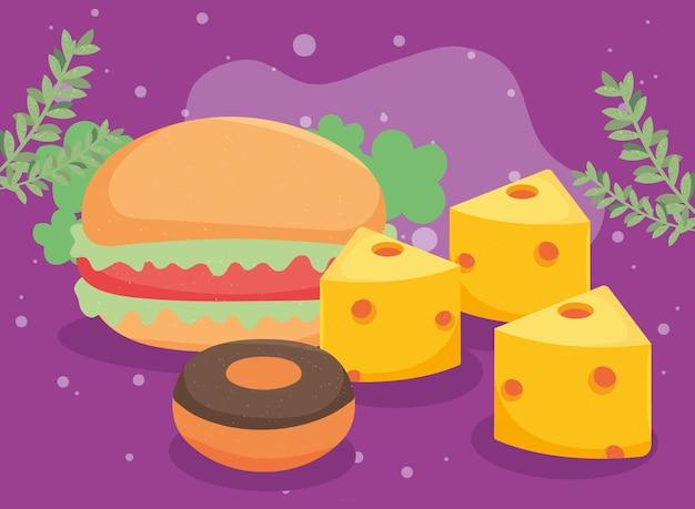 Hamburger and cheese