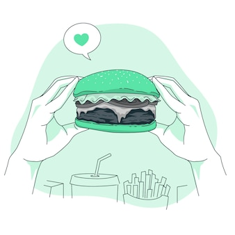 Illustrazione di concetto di hamburger