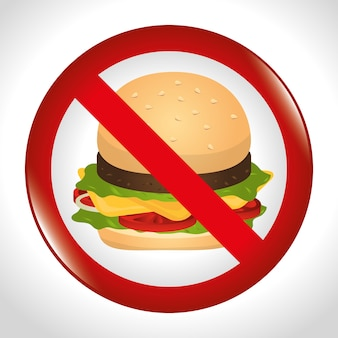 Hamburger digital design.