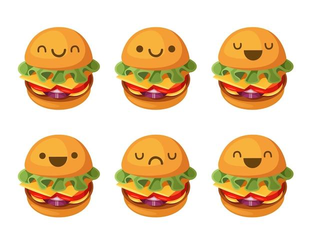 햄버거 일러스트 귀엽다 프리미엄