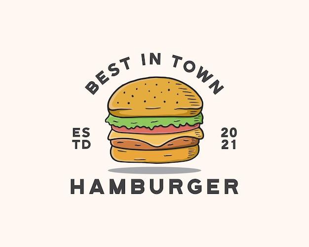 Гамбургер логотип шаблон