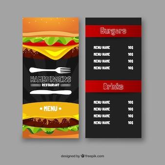Hamburger menu template