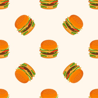 Hamburger pattern.
