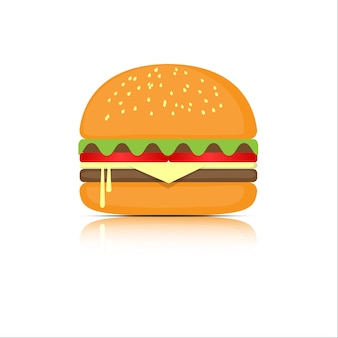 Hamburger with meat
