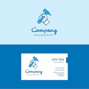 Логотип и визитная карточка молотка