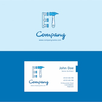 Hammer logo and business card