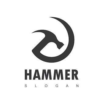Hammer logo for construction maintenance and home repair
