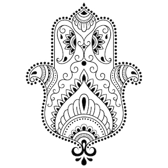Hamsa 손으로 그려진 된 기호.